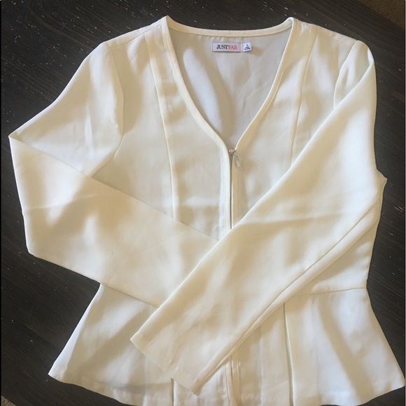 0d058bc6 JustFab Jackets & Coats | Peplum Zip Up Blazer | Poshmark